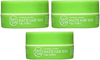Rojo Uno verde mate cera de pelo 150ml (3pcs oferta)