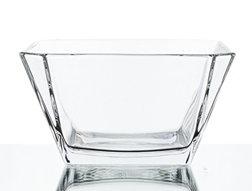 London Clear Glass Mini Dip Dessert Bowls - Set of 6, 10 Ounce
