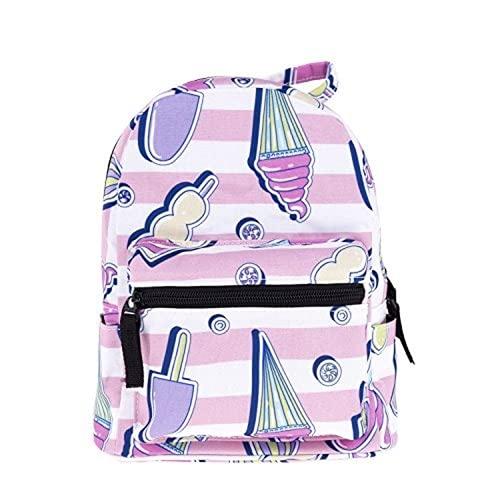 Bonita mini mochila de 10 pulgadas adecuada para niñas y adultos. (7,24 * 20 * 11CM)