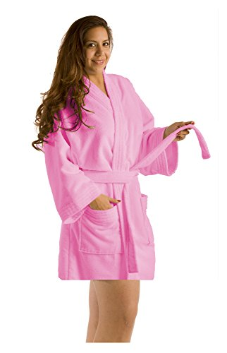 Shawl Pink Color Adult Bathrobes, Terry Men