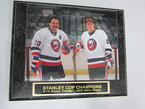 Islanders BRYAN TROTTIER MIKE BOSSY 8x10 Photo Mounted On A Custom Engraved Plaque