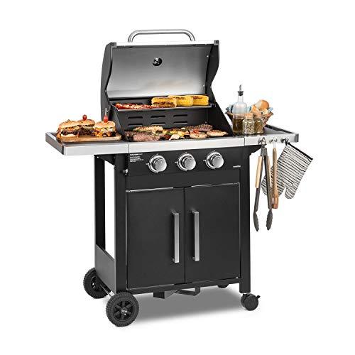 KLARSTEIN Tomahawk 3.0 T - Barbecue à gaz, 3 x brûleurs en...