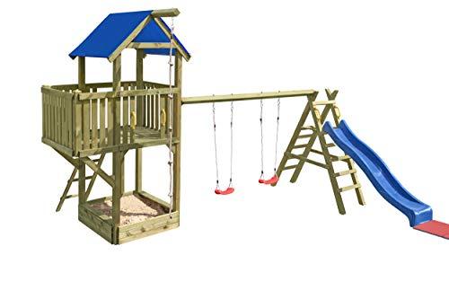 Gartenpirat Spielturm Navigator mit Schaukel und Rutsche