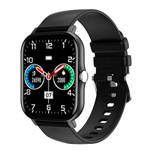 HQPCAHL Smartwatch,Reloj Inteligente con Pulsómetro,Cronómetros,Calorías,Monitor De Sueño,Podómetro Monitores De Actividad Impermeable IP67 Smartwatch Hombre Reloj Deportivo para Android iOS,Negro