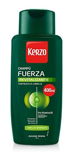 Kerzo Champú Fuerza Revitalizante para Cabellos Normales - 3 Recipientes de 400 ml - Total: 1200 ml