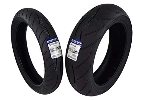 Metzeler Sportec M5 Front and Rear Motorcycle Radial Sport Bike Tires Set (120/70ZR17 Front 190/55ZR17)