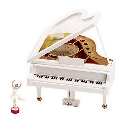 SHYPT Klavier Spieluhr Dreh Tänzerin Retro Klassischen Mechanischen Alarm Ballettmädchen Octave Music Box