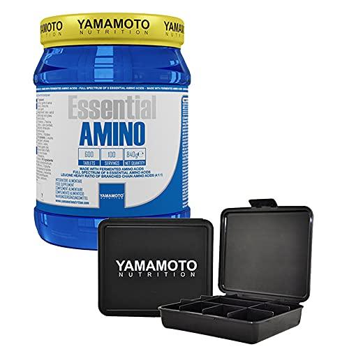 Yamamoto Nutrition Essential AMINO integratore di aminoacidi essenziali 600 compresse - (600 compresse + Pillbox)