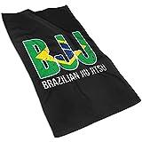 BJJ Brazilian Jiu Jitsu Microfibra súper Absorbente Decorativa Navidad Toalla de Mano...