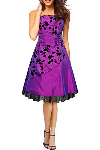 BlackButterfly 'SIA' Vestido De Gala De Satén Essence (Azul, ES 36 - XS)