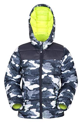 Mountain Warehouse Seasons Gepolsterte Jacke für Kinder, geeignet für alle Jahreszeiten - wasserdichte Winterjacke, leicht & warm Camouflage 7-8 Jahre