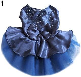 meiyuan Dog Dress Bow Gauze Tutu Skirt Flower Dog Pet Cat Luxury Princess Wedding Summer Clothes Apparel