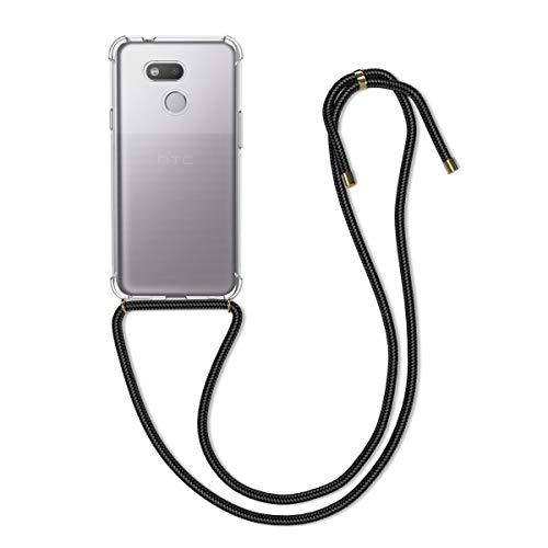 kwmobile Hülle kompatibel mit HTC Desire 12s - mit Kordel zum Umhängen - Silikon Handy Schutzhülle Transparent