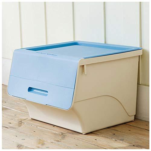 Indienkast dividers Ladekast Dormitory Data Opbergkast Kleding Opbergdoos Plastic Blauw Groen 44 * 39,5 * 30,9 cm Opbergdoos Blauw