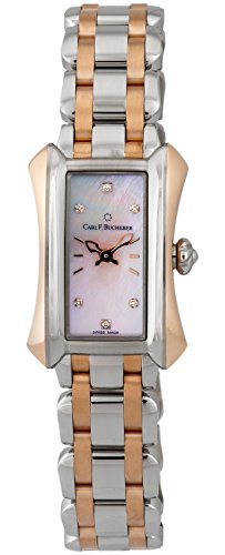 Carl F. Bucherer Alacria Princess Steel & 18k Rose Gold Womens Watch Pink...