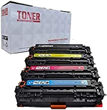 Raink Compatible CE320A CE321A CE322A CE323A Toner Cartridge for HP LaserJet CP1525n CP1525nw CM1415fn CM1415fnw, Canon MF8080cw Series Printer
