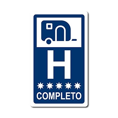 PEGATINA CARAVANA HOTEL COMPLETO CAMPING AVENTURA STICKER VINILO COCHE MOTO