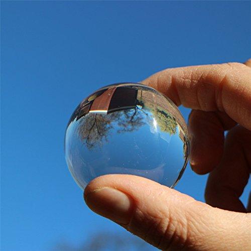 2 x balles sphériques acryliques solides Perspex de 30mm, en plastique poli transparent et translucide