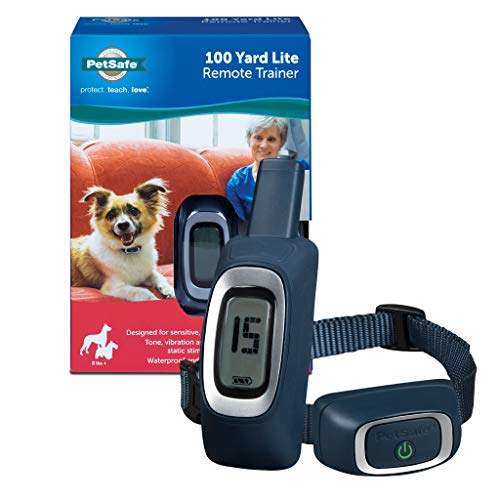 PetSafe 100 Yard Remote Training Collar – Smaller Version for Small or Medium Dogs – Choose from Tone, Vibration, or 15 Levels of Static Stimulation – Short Range Option for Training Off Leash Dogs