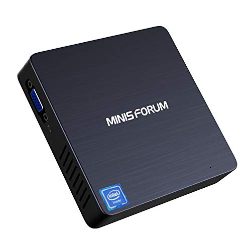 N33 Fanless Mini PC Intel Celeron N3350 (up to 2.4 GHz) Windows 10 64-bit OS, 4GB LPDDR4 Ram/ 64GB eMMC/Support SSD, HDMI&VGA Outputs, 4K/ 2.4G+5G WiFi/ 1000M LAN/BT 4.2/ 3X USB 3.0