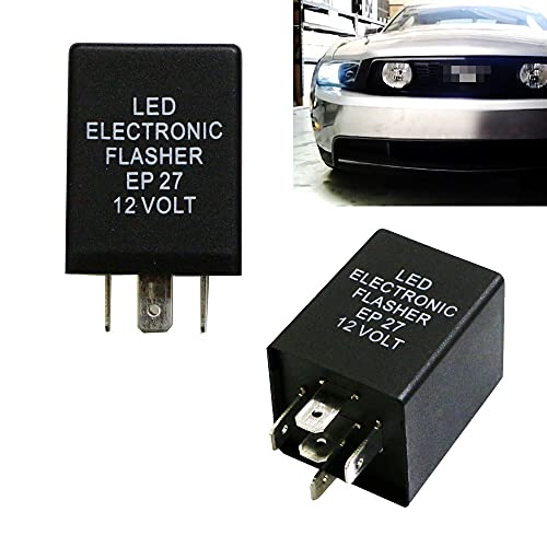 iJDMTOY (1) 5-Pin EP27 FL27 Electronic LED Flasher Relay Fix As LED Turn Signal...