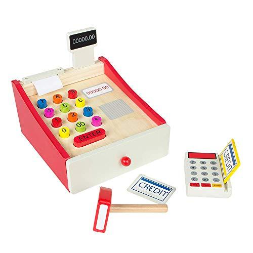 WOOMAX - Caja registradora de madera (43628)