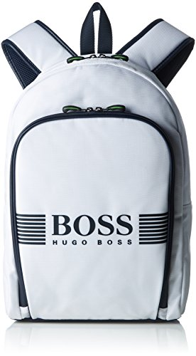 BOSS Herren Pixel_backpack Rucksack, Weiß (Natural), 12x43x29 cm