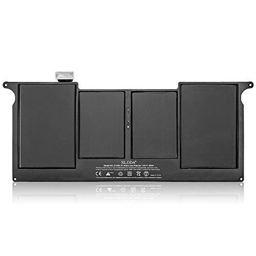 SLODA Batería de Repuesto para Apple Macbook Air 11' A1495/A1465 (Mid 2012, Mid de 2013, Early 2014, Early 2015) A1406/A1370 (Mid 2011 Solamente) Compatible para Macbook Air 11' A1495/A1465 Batería de Reemplazo [Li-Polymer 7,6V 5000mAh]