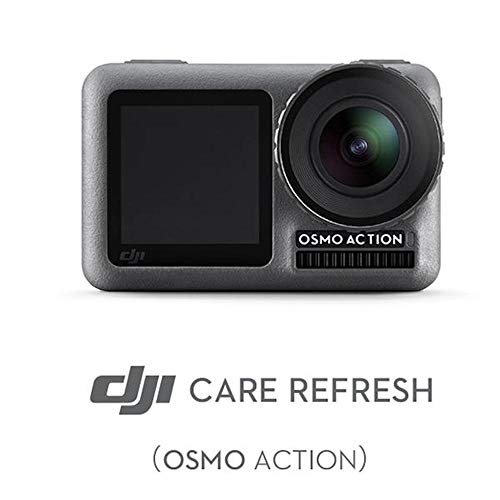 DJI OSMO Action Camera with DJI Care Refresh, Comes 128GB Extreme Micro SD, with 2 Displays, 11m Waterproof, 4K HDR Video, 12MP 145 Degree Angle (Black), with 128GB + Care Refresh (AC001)