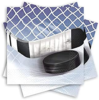 Amscan 503834 NHL Ice Time! Collection Beverage Napkins, 16 pcs