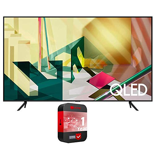Samsung QN75Q70TA 75-inch 4K QLED Smart TV (2020 Model) Bundle with 1 Year Extended Warranty