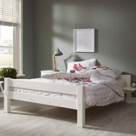 Promo Alfred & Compagnie bed van massief hout, 140 x 200 cm, met lattenbodem