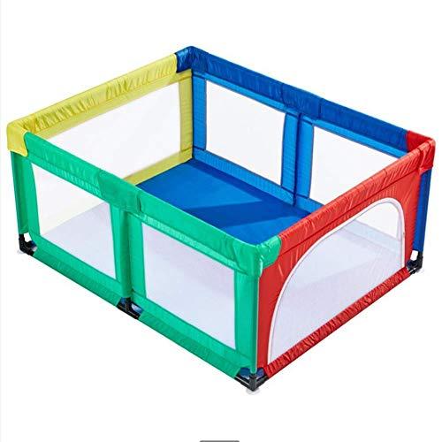LXDDP Parc d'enfant pour bébé, Jumeaux clôture clôture Parc pour bébé Enfant Toddler Protection Tapis Sol sécurité Kids Activity Center intérieur extérieur résistant à l'usure Portable, 150x120x70 cm