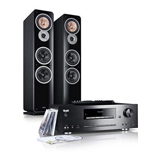 Teufel Kombo 62 zwart staande luidspreker Sound basreflex 3-weg hifi tweeters luidspreker high end hifi speaker high end luidspreker mp3