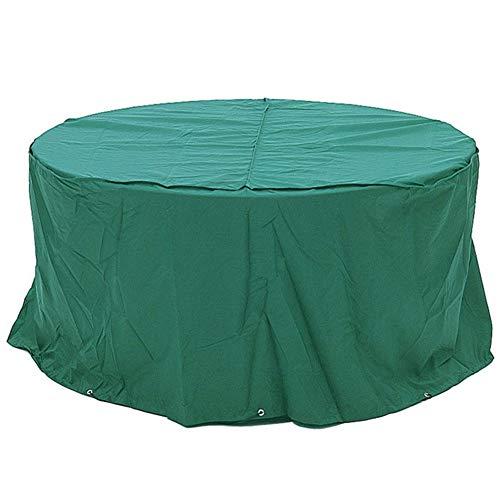 LRZLZY Jardín Muebles de ratán Cubierta Resistente al Desgaste al Aire Libre Impermeable a Prueba de Polvo Equipo Circular de PVC + Poliéster, 3 Color 22 Tamaño (Color : Dark Green, Size : 120X90CM)