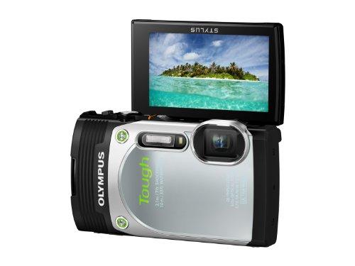 """Olympus Stylus TG-850 Fotocamera Digitale Olympus 16 MP, Sensore CMOS, Zoom Ottico 5x, LCD da 7,6 cm/3"""", Full HD, Argento"""