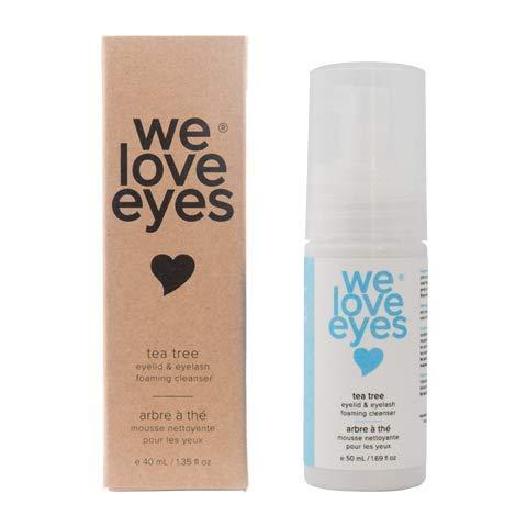 We Love Eyes- Vegan Tea Tree Eyelid Eyelash Foaming Cleanser- Blepharitis, Demodex, Dry Eyes Relief and treatment, Wash Eyelashes, Reduce Itching and Inflammation- 50 ml…