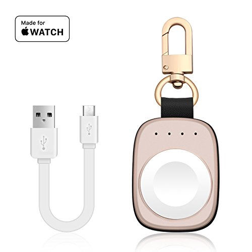 FLAGPOWER Portable Charger for Apple Watch, [MFi Certified] Pocket Sized Travel Wireless Charger 700mAh Smart Keychain Power Bank for Apple Watch Series 5/4/3/2/1/Nike+