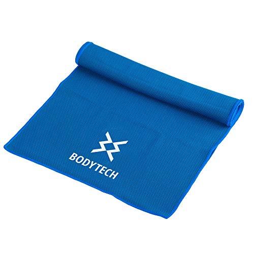 【Amazon限定ブランド】ボディテック(Bodytech) 超冷却アイスタオル 熱中症対策 紫外線カット カラビナ付き 持ち運び便利 アウトドア スポーツタオル BTS02CM019 ブルー