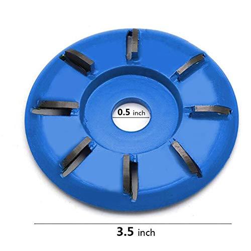 Holzschnitzscheibe mit 8 Zähnen Holz-Turbo-Carving-Scheibenwerkzeug Fräswerkzeuge für Winkelschleifer mit Absaugung 16 mm Power-Holzschleif-Trennscheiben-Winkelschleifer mit Absaugung-Aufsatz-Fräswerkzeug für die Holzbearbeitung