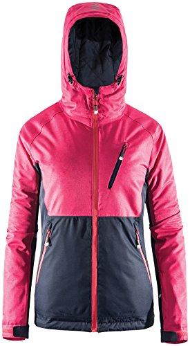 Unbekannt Winterjacke für Damen | Outhorn KUDN602 | Wasserdichte Jacke für Winter | atmungsaktive Snowboardjacke | Winddichte Kapuzenjacke | Skijacke | HYDROPILE 3000 (Rosa, XL)