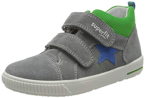 Superfit Baby Jungen MOPPY Sneaker, Grau (Hellgrau/Blau 25), 27 EU