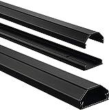 Hama Kabelkanal Alu (Aluminium, eckig, 110 x 3,3 x 1,7 cm, bis zu 5 Kabel) schwarz