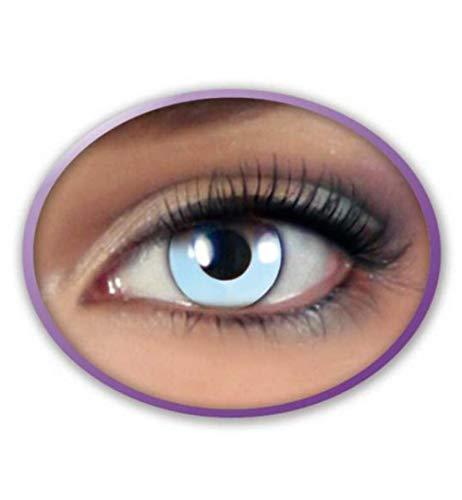 KarnevalsTeufel Fun-Linsen Eisblau Kontaktlinsen getönt Eiskönigin Jahreslinsen inkl. Aufbewahrungsbehälter