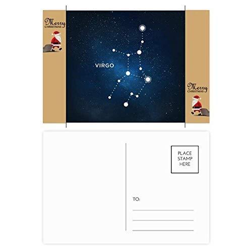 Virgo sterrenbeeld dierenriem teken kerstman cadeau ansichtkaart dank kaart mailen 20 stks