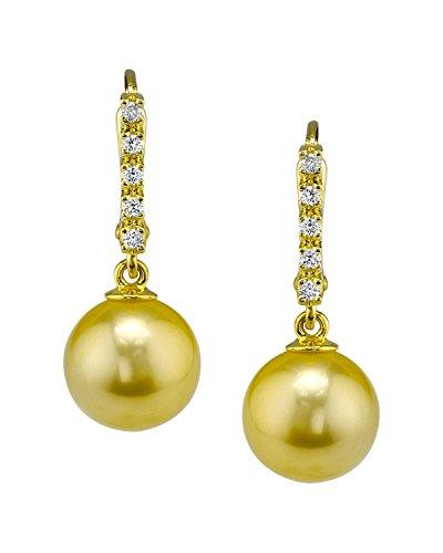 The Pearl Source Oro 750 oro giallo Rotonda Perle coltivate dei Mari del Sud Perla