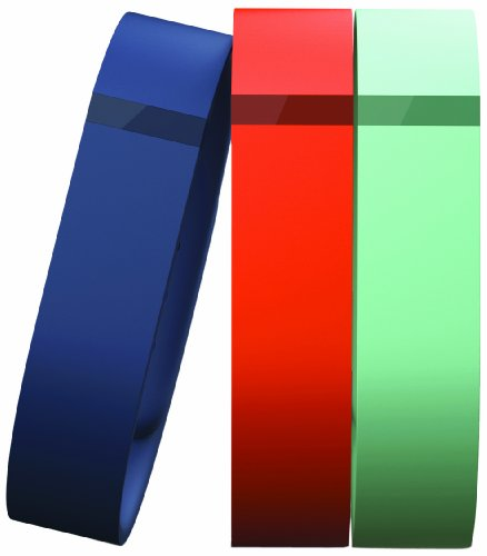 Fitbit - Flex Classic Replacement Bands (3-ct - Small) - Blue/Tangerine/Teal