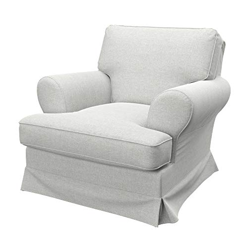Soferia Funda de Repuesto para IKEA BARKABY sillón, Tela Classic Creme, Off-White