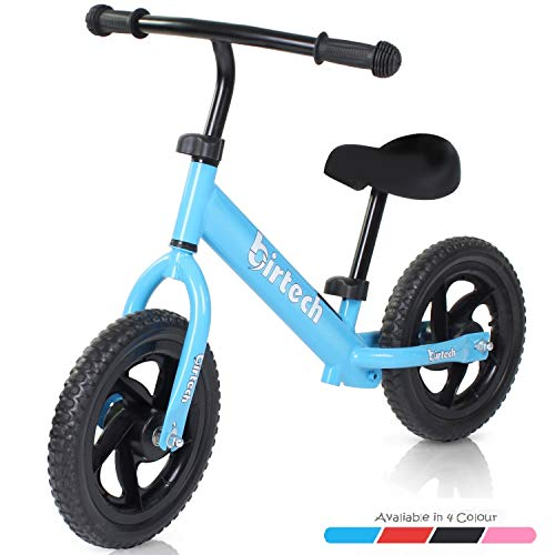 Birtech Balance Bike for 2-6 Year Old, 12 Inch Toddler Bike No Pedal Training Bicycle with Adjustable Seat Height, Airless Tire (Blue)