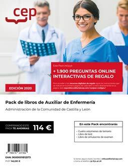 PACK DE LIBROS OPOSICIONES AUXILIAR DE ENFERMERIA JUNTA DE CASTILLA Y LEON